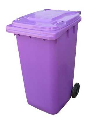 Wheelie Bin 240ltr Purple Paramount Browns Adelaide