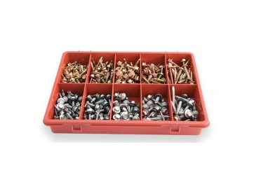 "TRADE PACK - HEX HEAD 5/16"" SELF DRILLING METAL SCREW 295PC"