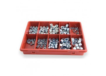 TRADE PACK - NYLON SELF LOCKING NUTS 180PC