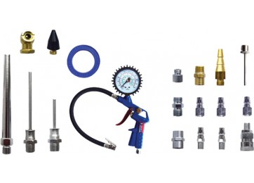 AIR BLOW GUN & INFLATOR KIT - 20PC
