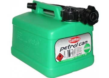 JERRY CAN PLASTIC 5L - GREEN SQUAT