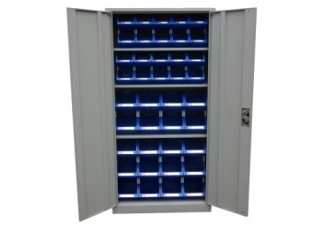 STORAGE CABINET 1.8M GREY ECONOMY WITH STORAGE BINS