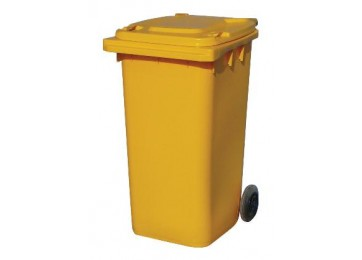 WHEELIE BIN 240LTR - YELLOW