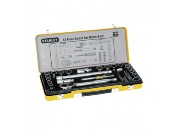 "SOCKET SET 1/2"" 43PC STANLEY"