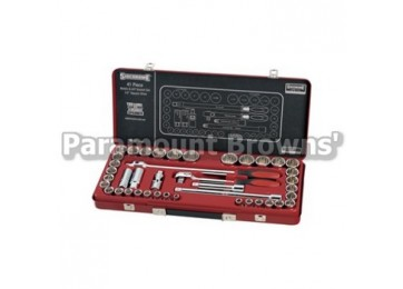 "SOCKET SET 1/2""DR 41PC SIDCHROME"
