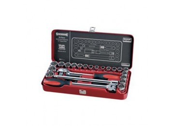 "SOCKET SET 1/2""DR 24PC SIDCHROME"