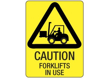METAL SIGN FORK LIFT - 450 X 300MM