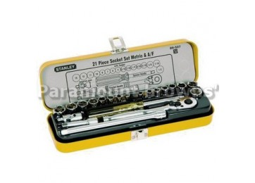 "SOCKET SET 1/4"" 21PC STANLEY"