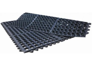 RUBBER INTERLOCKING ANTI-FATIGUE MAT