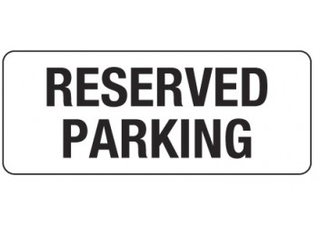 METAL SIGN RESERVED PARK - 450 X 200MM