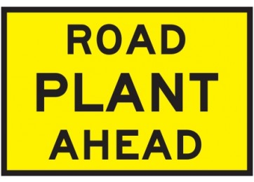 METAL SIGN ROAD PLANT AHEAD - 900 X 600MM