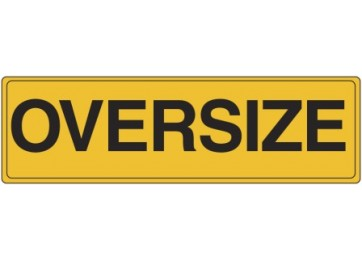 METAL SIGN OVERSIZE - 1200 X 450MM