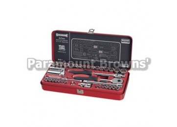 "SOCKET SET 1/4-3/8""DR 38PC SIDCHROME"