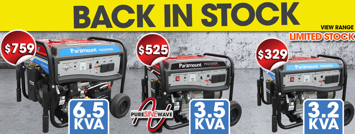 Petrol Generators - Back in Stock