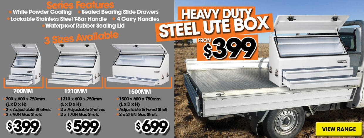 Ute / Truck Boxes, 3 Sizes Available