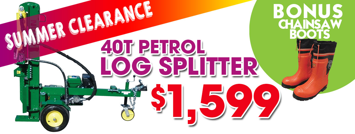 Log Splitter Summer Clearance