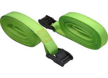 10pc 2m x 25mm Cam Buckle Straps Tie
