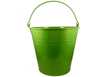 PAINTED GALV BUCKET 12L