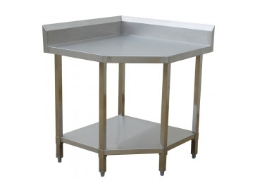 STAINLESS STEEL CORNER BENCH