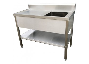 STAINLESS STEEL DELUXE BENCH / SINK 1200MM