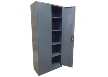 STORAGE CABINET 2.1M DARK GREY