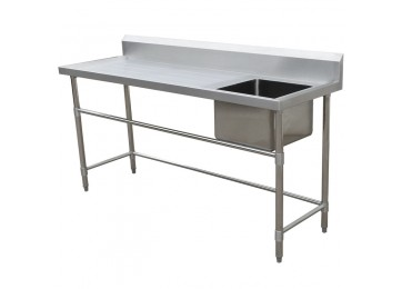 STAINLESS STEEL BENCH / SINK 1800MM