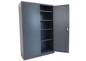 STORAGE CABINET 1.8M DARK GREY - EXTRA WIDE