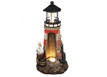 LIGHT HOUSE 80CM WATER FEATURE