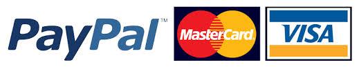 PayPal, Mastercard, Visa accepted
